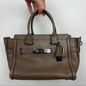 Coach Swagger Carryall 27 Olive Satchel Bag